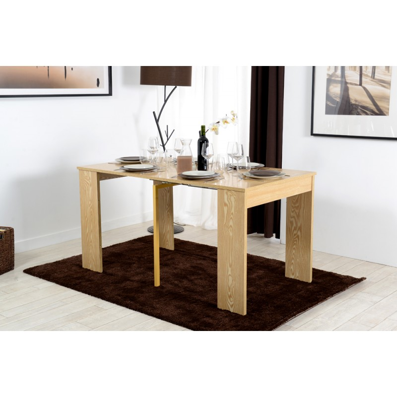 combi d cor ch ne naturel console extensible troc 3000. Black Bedroom Furniture Sets. Home Design Ideas