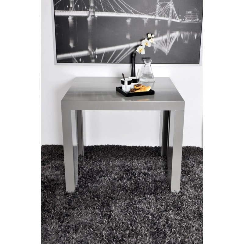 Algo console table grise 3 allonges troc 3000 fr jus for Table console extensible grise