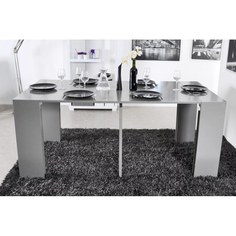 algo console table grise 3 allonges troc 3000 fr jus. Black Bedroom Furniture Sets. Home Design Ideas