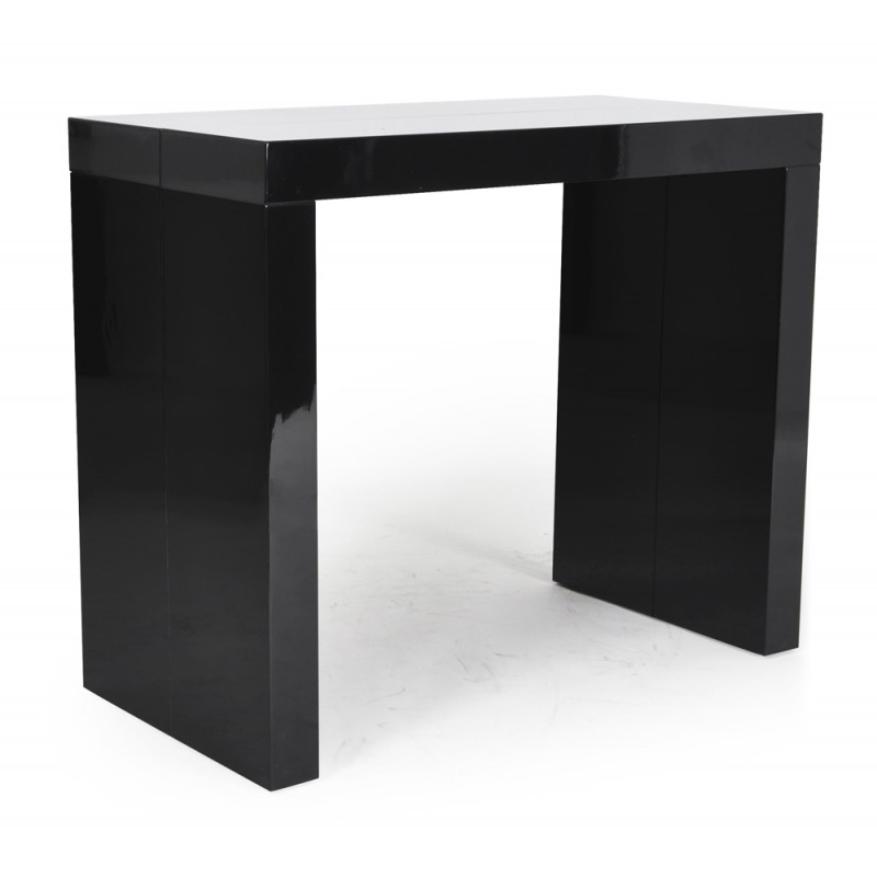 Table console noire - Table a rallonge console ...