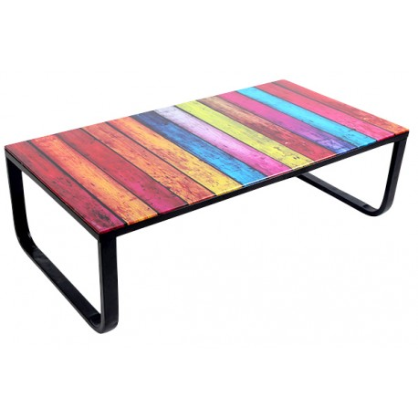 Rainbow table basse multicolore troc 3000 fr jus - Table basse multicolore ...