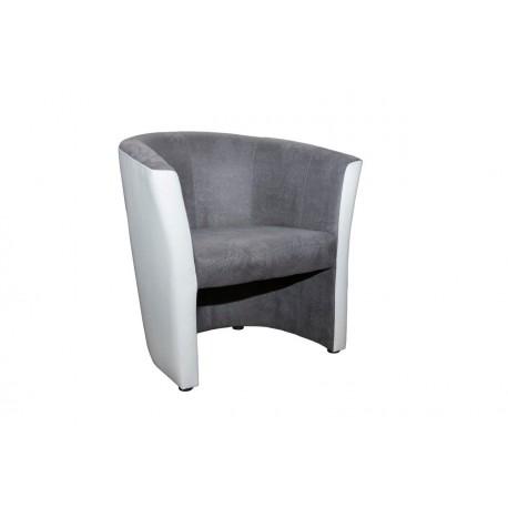 FELEK fauteuil Blanc - Gris
