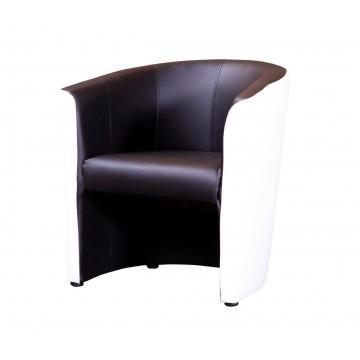FELEK fauteuil Blanc - Noir