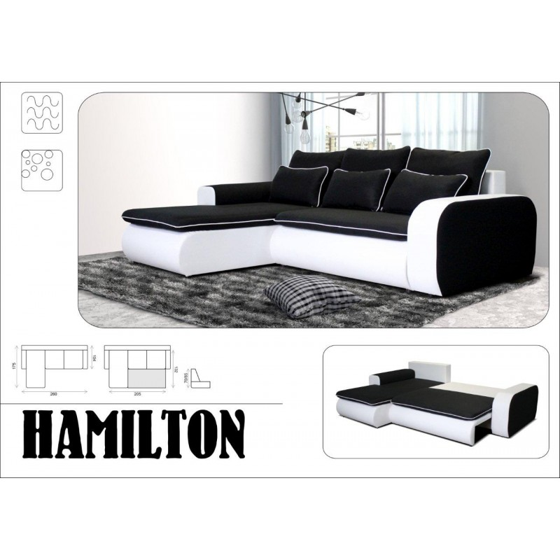 hamilton canap d 39 angle convertible et r versible troc. Black Bedroom Furniture Sets. Home Design Ideas