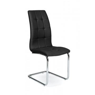 LEAF Chaise pied Chromé PU Noire