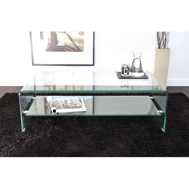 Vera table basse rectangulaire verre troc 3000 fr jus for Table salon design italien