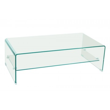 VERA  table basse rectangulaire verre