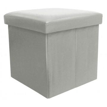 BUGGY gris pouf coffre pliant