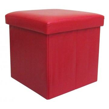 BUGGY rouge pouf coffre pliant