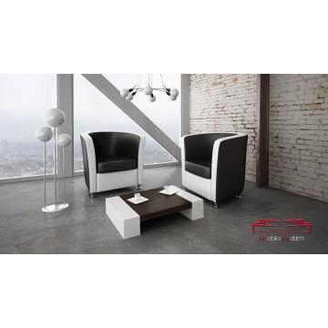 JULIO fauteuil Blanc - Noir