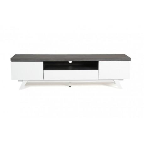 storm meuble tv 2 portes 1 niche 1 tiroir dcor bton