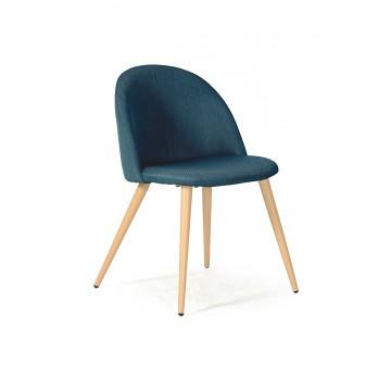 ODETTE Chaise - Tissu Bleu