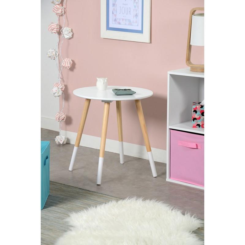 basik table basse ronde blanche naturelle troc 3000 fr jus. Black Bedroom Furniture Sets. Home Design Ideas