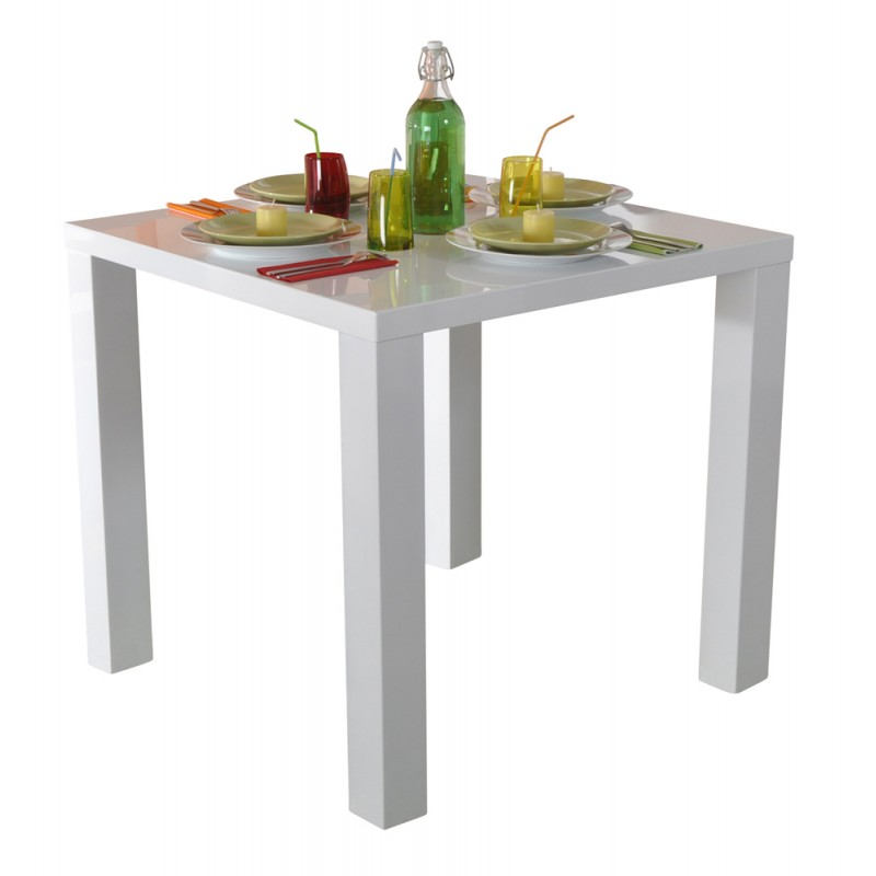 Gloss table carr e laqu e blanc troc 3000 fr jus - Table carree laquee blanc ...