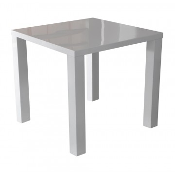 GLOSS table carrée laquée blanc