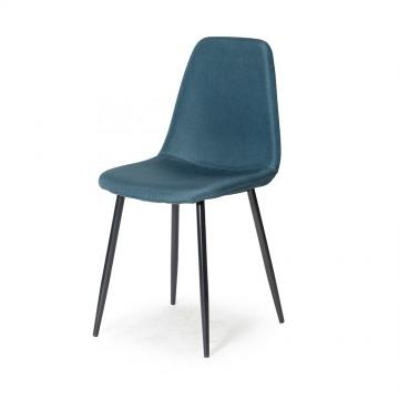 VALBERG Chaise Tissu Bleu