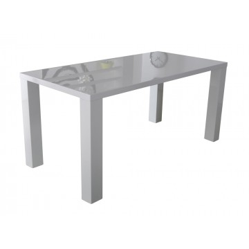 GLOSS table rectangulaire laquée blanc