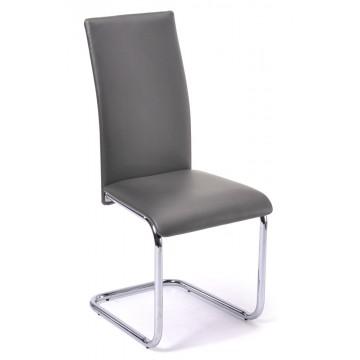 SOFIA Chaise - Chrome/Grise