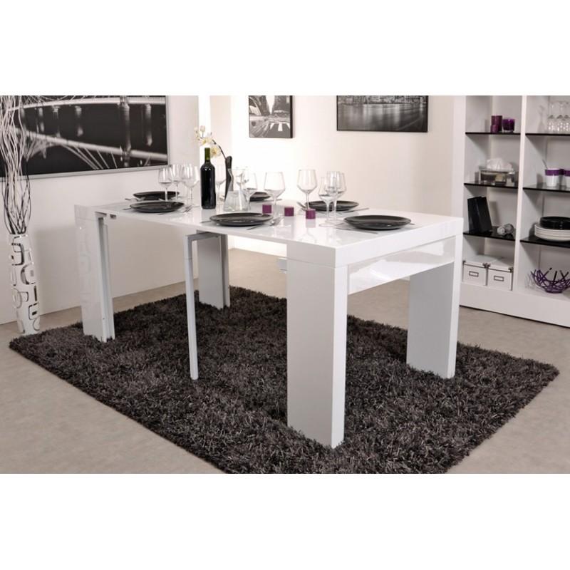 Algo console table avec tiroir blanche 3 allonges troc 3000 fr jus - Consoles avec tiroirs ...