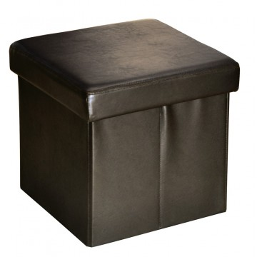 BUGGY chocolat pouf coffre pliant