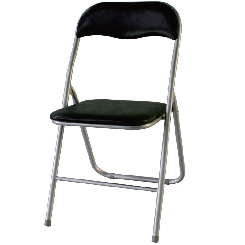 Declick chaise pliante noire troc 3000 fr jus - Chaise pliante cuisine ...
