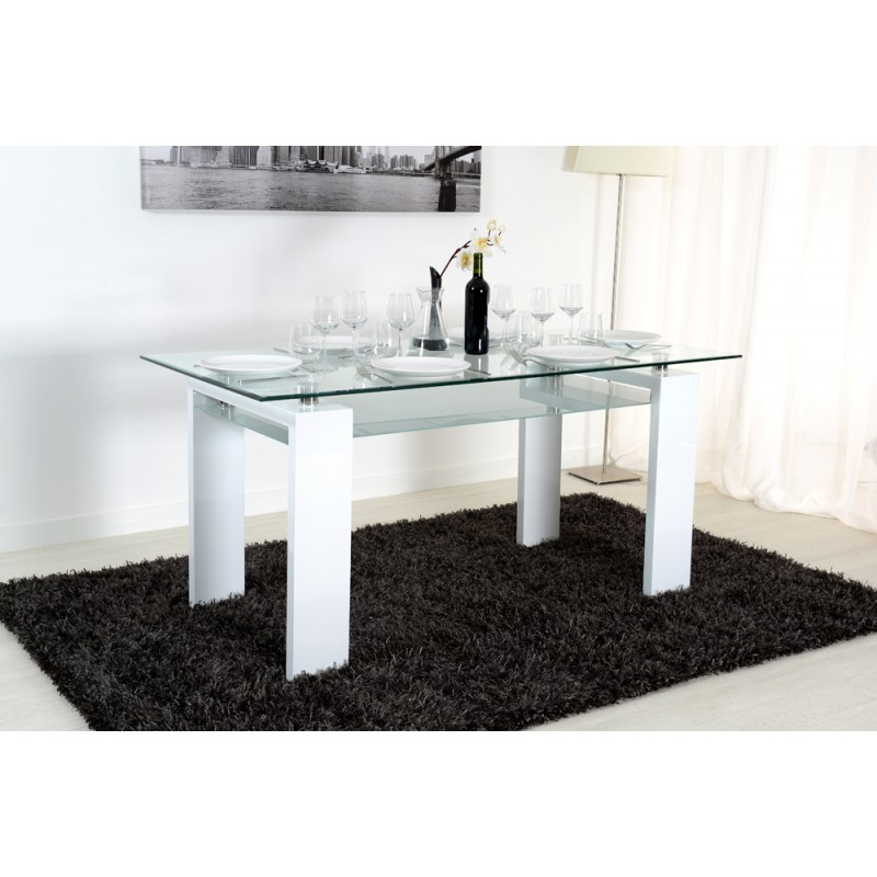 gloria table blanche salle manger troc 3000 fr jus. Black Bedroom Furniture Sets. Home Design Ideas