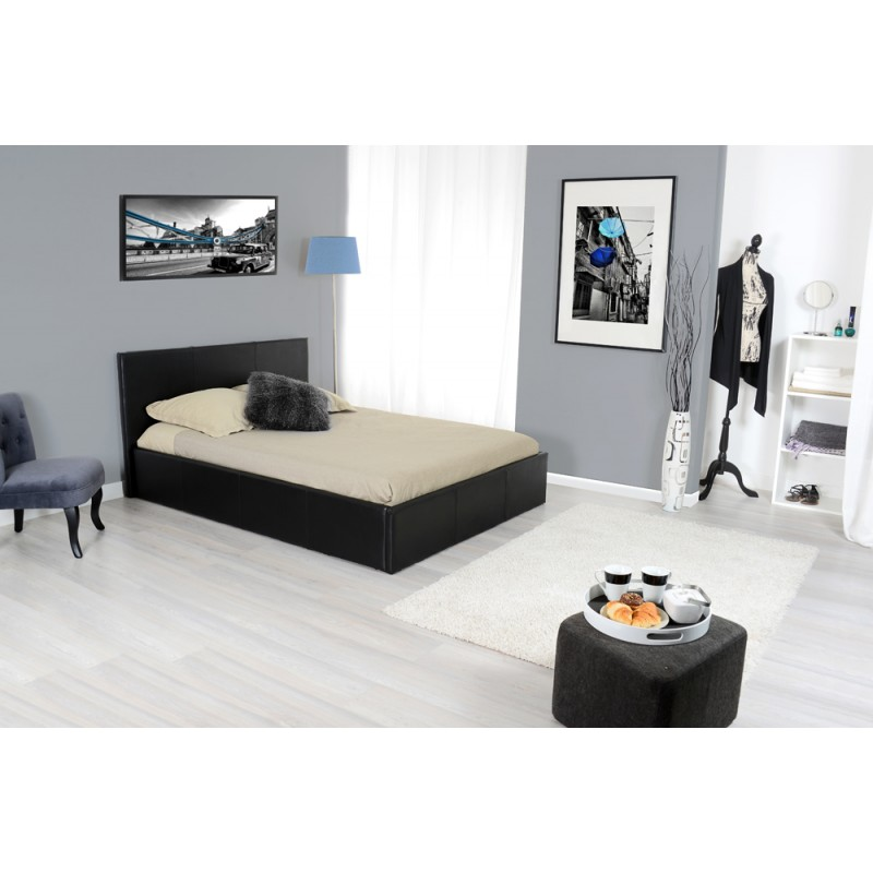 skon lit coffre noir 180 200 troc 3000 fr jus. Black Bedroom Furniture Sets. Home Design Ideas