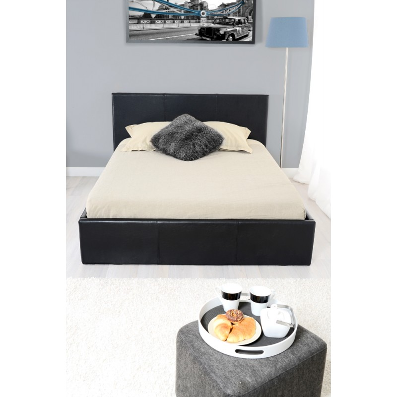 skon lit coffre noir 180 200 troc 3000 fr jus. Black Bedroom Furniture Sets. Home Design Ideas