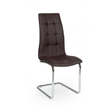 LEAF Chaise pied Chromé PU Prune