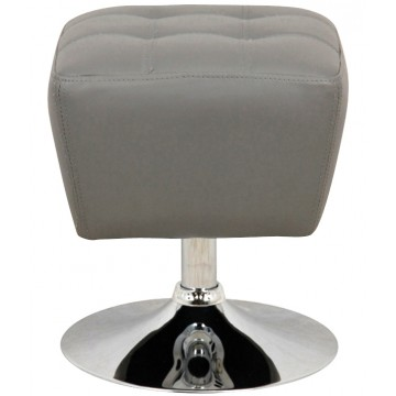 ROUBY Tabouret pouf - Gris
