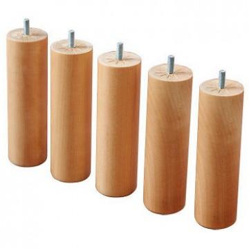 jeu de 5 pieds bois massif 20 cm pour sommier tapissier 160*200
