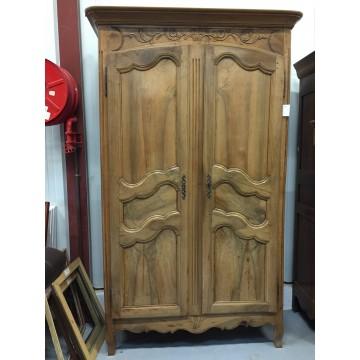 Armoire ancienne 2 portes de style Louis XV