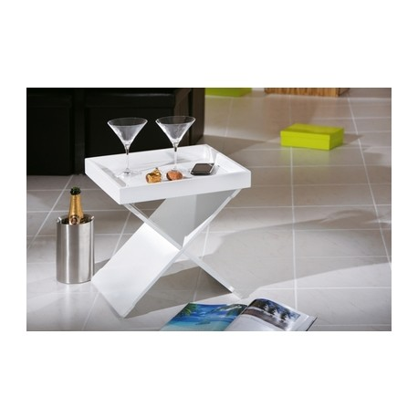 EGON table d'appoint blanche