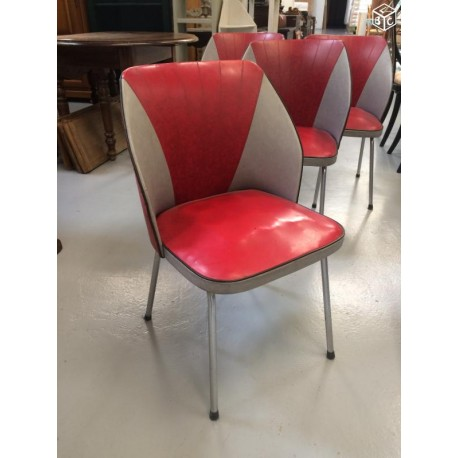 Lot 4 chaises vintage US
