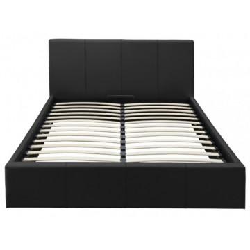 BASTIEN lit coffre noir 160*200