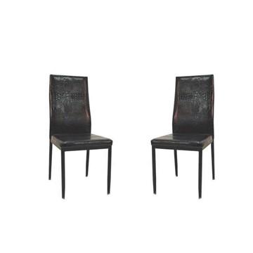 TILIA Chaise PVC Noire