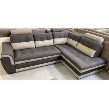 FALCO canapé angle droit gris bicolore