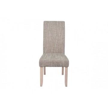 SAGUA Chaise tissus beige chiné