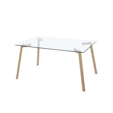 Mirage table verre rectangulaire
