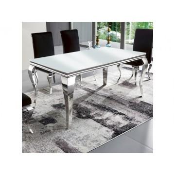 Baroque Table 150cm + 4 chaises foncées grises