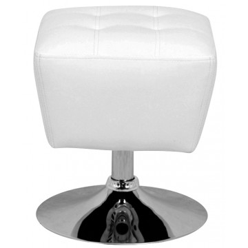 ROUBY Tabouret pouf - Blanc